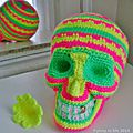 Santa muerte sugar skull n°2 version fluo