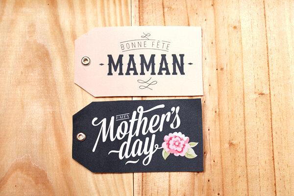 Célèbre Fête des mères : des étiquettes Bonne fête Maman (gratuit - à  EW63