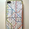 Coque iphone - metro de londres
