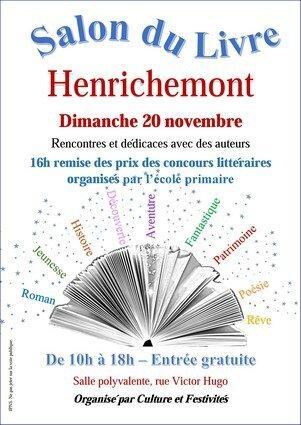 Affiche salon du livre Henrichemont 2016