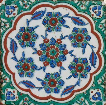 Selection Of Ottoman Turkey Iznik And Kutahya Pottery