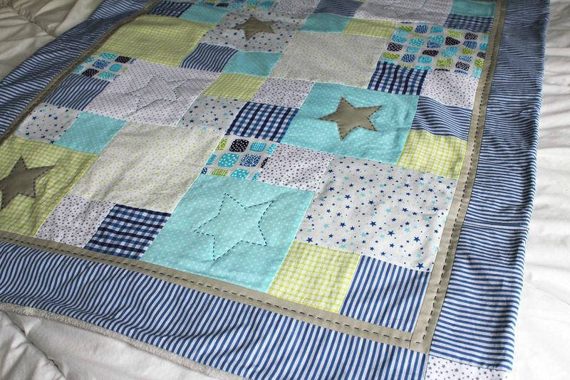 Atelier plaid d butant quilt in the country - Modele patchwork gratuit debutant ...