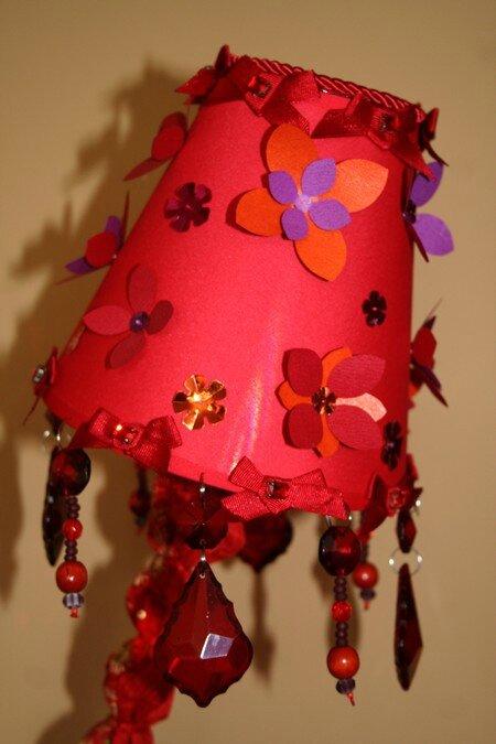 Lampe Rouge et Violet abat-jour