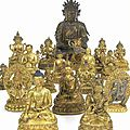 Exceptional buddhist gilt-bronze figures lead bonhams' fine chinese art sale in london