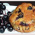 Mini gâteaux aux baies de sureau noir