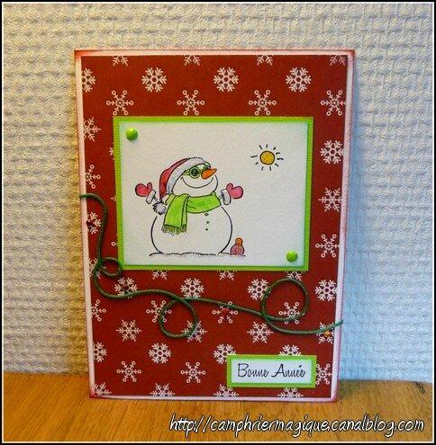 Carte bonhomme de neige sous le soleil_01