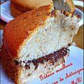 Gâteau moelleux à la farine de châtaigne et au nutella®