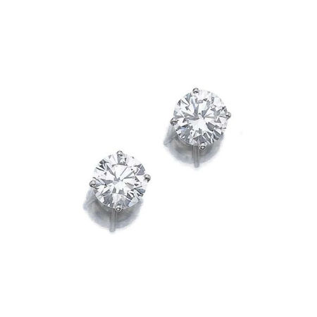 Pair of diamond ear studs, Graff