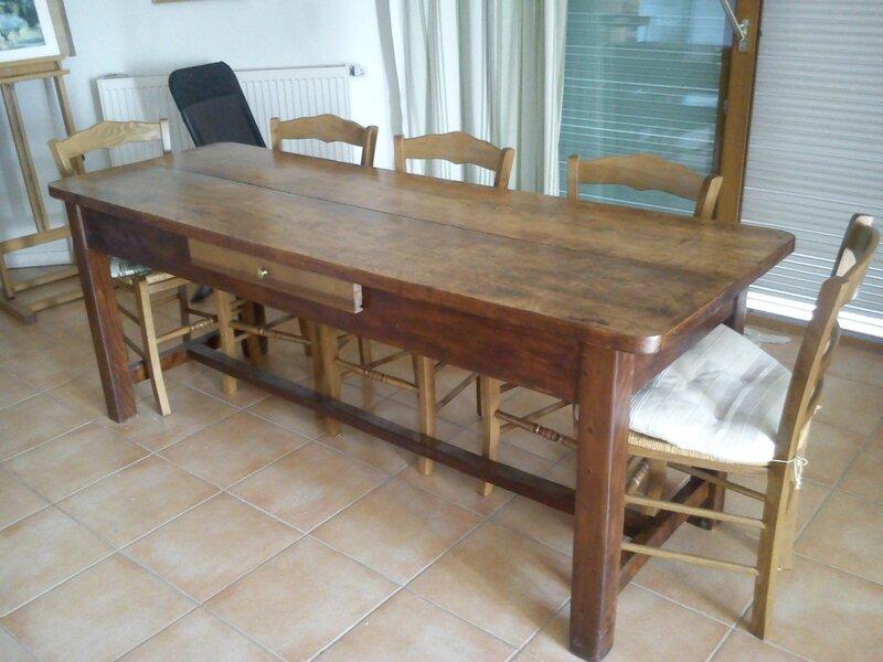 table de monast re album photos peinture et patine. Black Bedroom Furniture Sets. Home Design Ideas