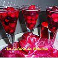 Fruits rouges en gelée de champagne