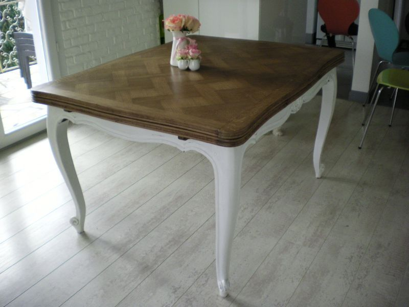 Repeindre une table en chene atelier retouche paris - Ceruser une table en chene ...