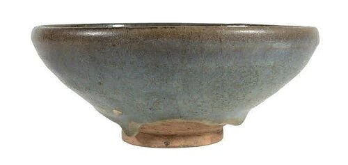 A copper red-splashed Jun bowl, Jin-Yuan dynasty