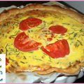 Tarte Champigons Tomates Oignons