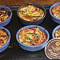 Clafoutis asperges vertes, jambon cru et chaource