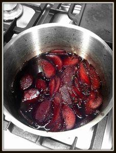 poires au vin et aux épices
