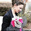 Mariée en fuchsia, noir, blanc et lin { real wedding }