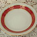 Plat porcelaine compagnie nationale
