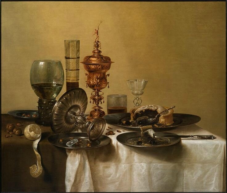 Willem Claesz Heda (c. 1597 Haarlem c. 1680), A Still-Life with a Silver Tazza and a Gilt Cup