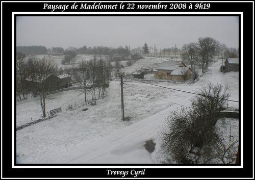 2008 11 22 Paysage de Madelonnet sous la neige