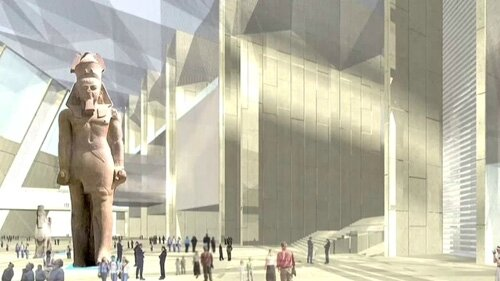 Le « Grand Egyptian Museum » du Caire en 2018