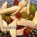 Salade poires & raisins