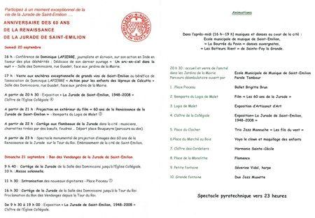 Programme St-Émilion 2008