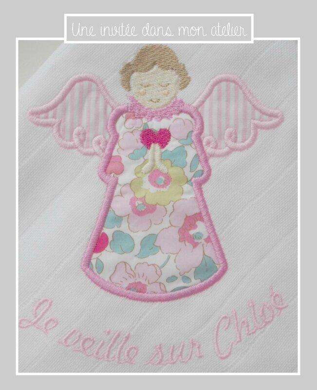 lange personnalisé-ange gardien-Liberty-betsy fraise