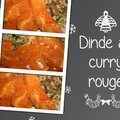Dinde au curry rouge