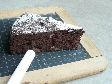 Fondant au chocolat façon brownies (photo)