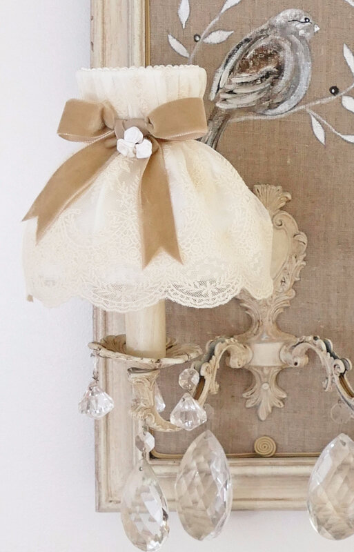 abat-jour dome shabby chic 4