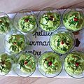 Mousse de petits pois au wasabi