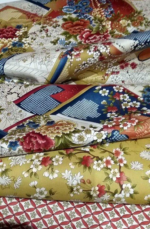 tissu patchwork motifs japonais