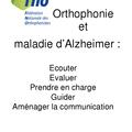 Orthophonie et maladie d'alzheimer