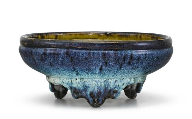 A Shiwan jun-type narcissus bowl , Ming dynasty