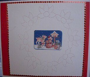 Roberta - Paper piercing - Christmas card - Canada