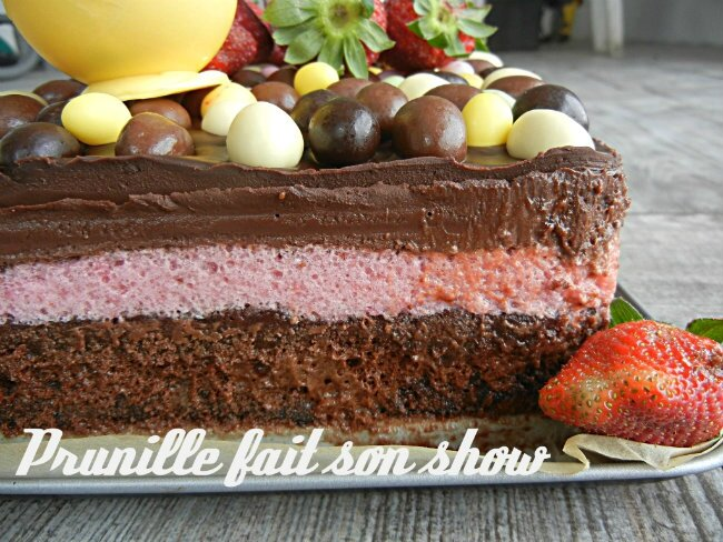 mousse choco fraise prunillefee