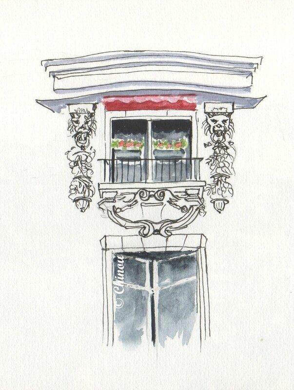 Paris balcon fleuri
