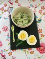 Salade de Concombre & Oeufs Durs, Sauce Tahiné 003