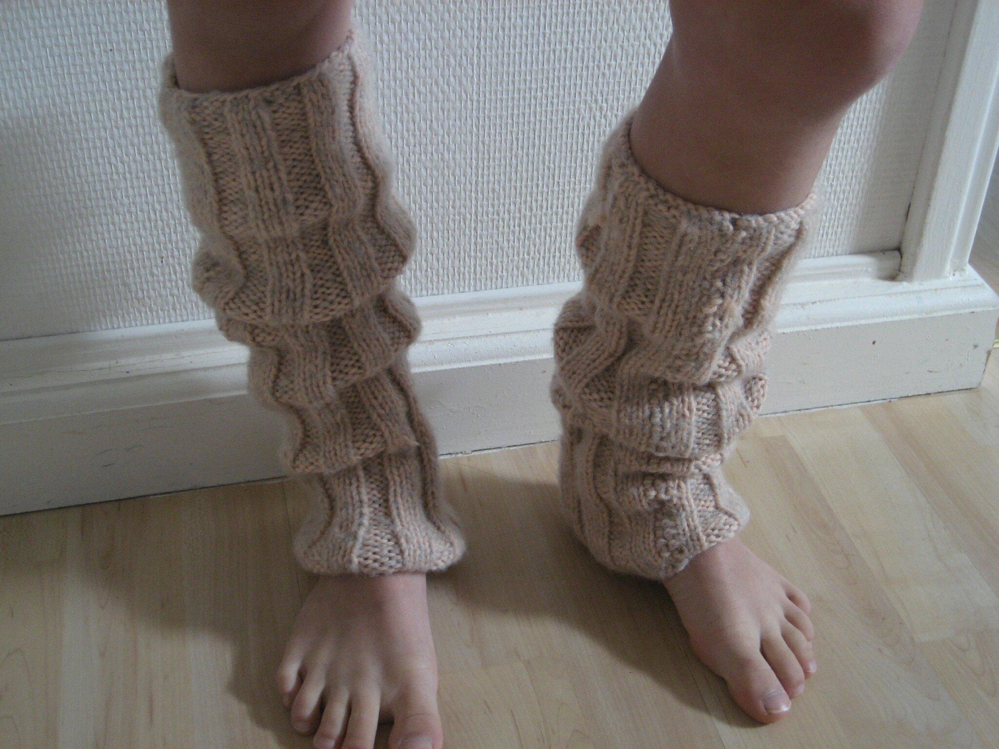 tricoter des guetres en laine