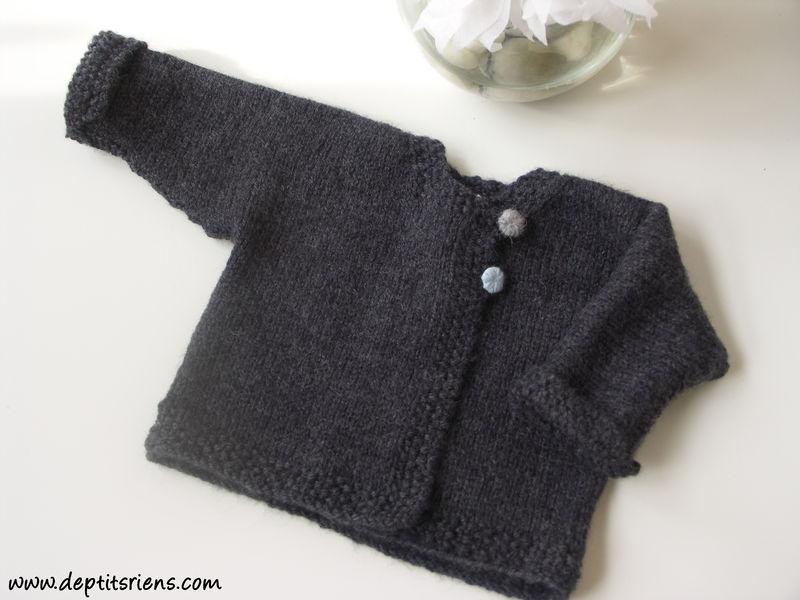 patron gratuit tricot enfant