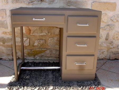 Petit bureau annees 30 50 couleur taupe atelier darblay le meuble d 39 - Bureau couleur taupe ...