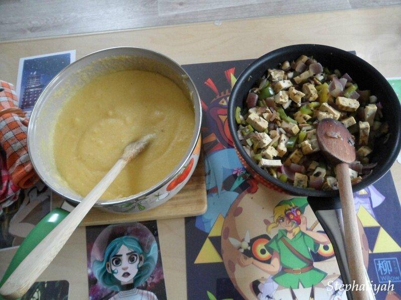 Polenta et tofu olives - 2 août 2017