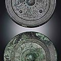 Two bronze circular mirrors, eastern han dynasty (25-220)