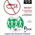 Manifestation le 14 juin pour le respect des droits de l'homme en asie