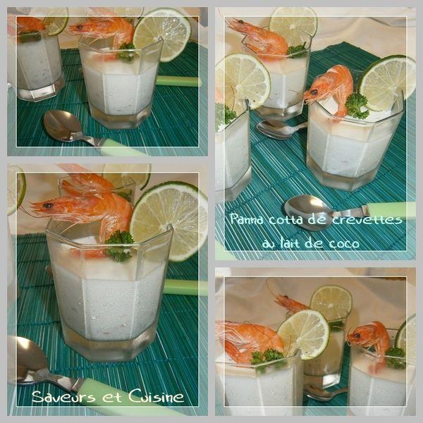 Panna cotta de crevettes au lait de coco