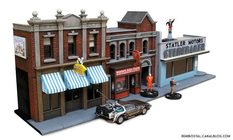 Hill Valley main street part 2 back to the future bttf heroclix remi bostal scenery miniature (3)