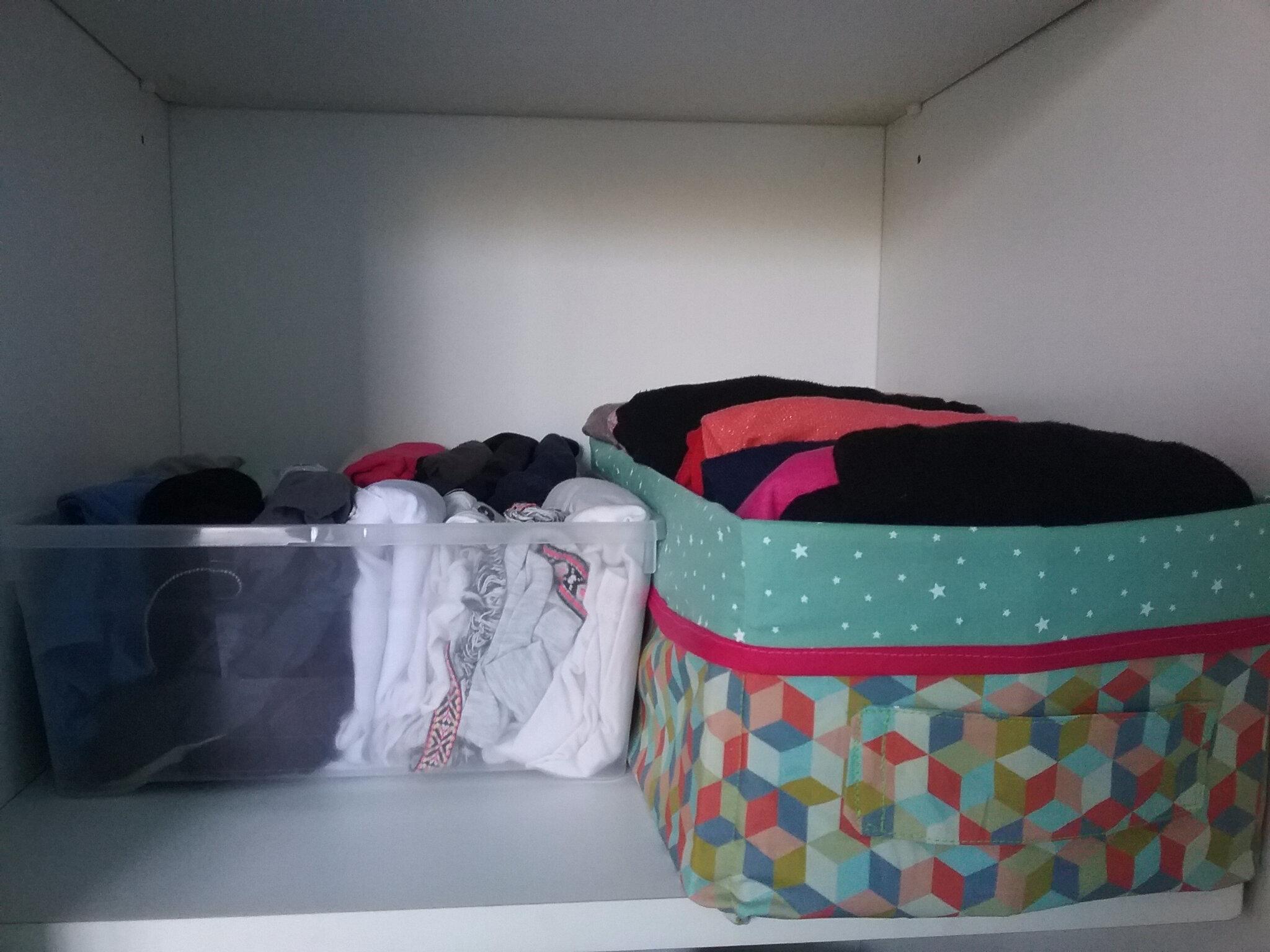 panier de rangement m thode de pliage de v tements de marie kondo la chouette kikou. Black Bedroom Furniture Sets. Home Design Ideas