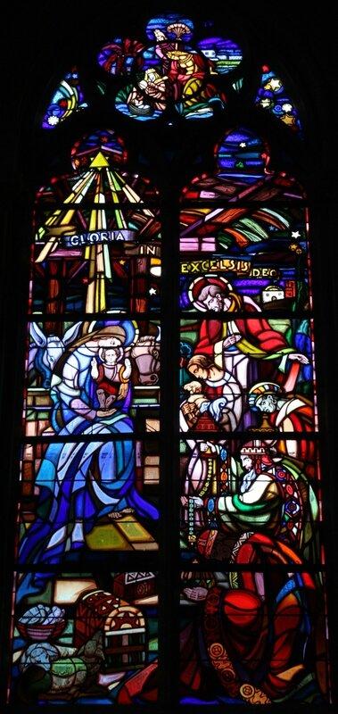 Eglise de Châtillon-sur-Loire, transept nord, l'Adoration des mages. (Photo A. Estienne)