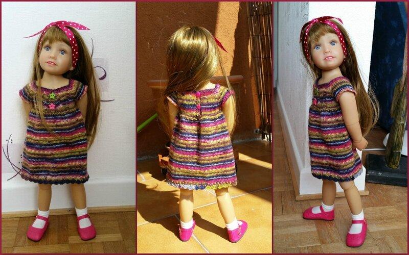 Océana et sa nouvelle robe