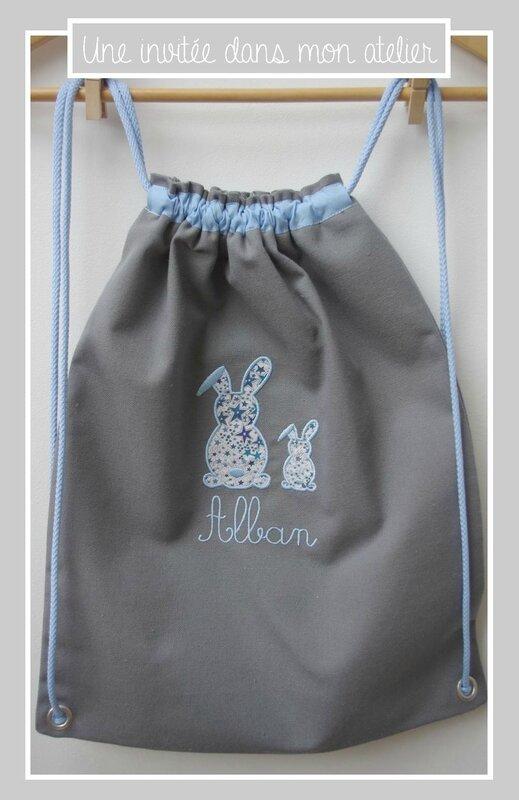 sac à dos-cadeau de naissance personnalisé-Liberty adelajda bleu